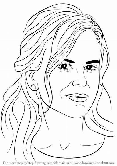 Nicole Kidman Drawing Step Draw Celebrities Learn