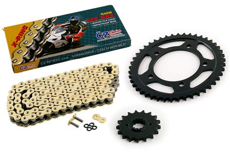 99-2000 Honda Cbr1100xx Blackbird Cz Sdz Gold X Ring Chain