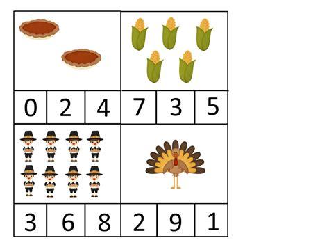 coyne s preschool classroom free thanksgiving 296   Thanksgiving clip cards