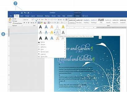 Word Text Font Effects Feature Advanced Change