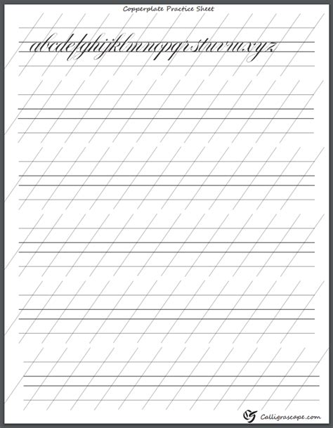 copperplate handwriting worksheets copperplate calligraphy practice sheet calligrascape