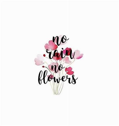 Rain Lettering Flowers Quotes Handlettering Flower Zitate
