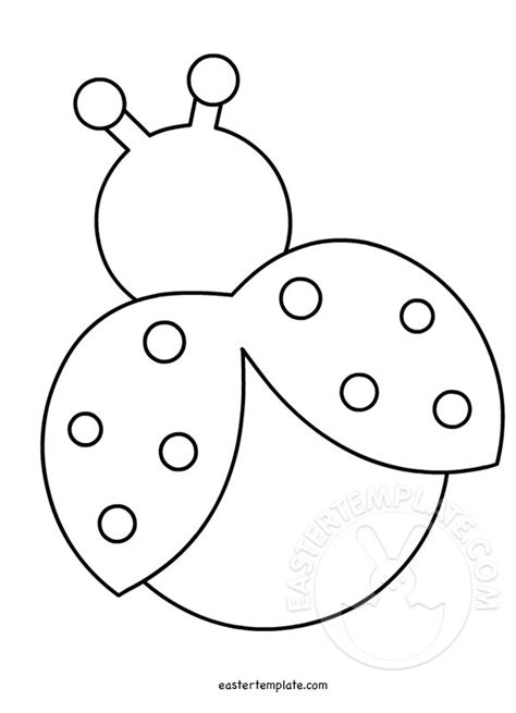ladybug template the gallery for gt ladybug template cut outs