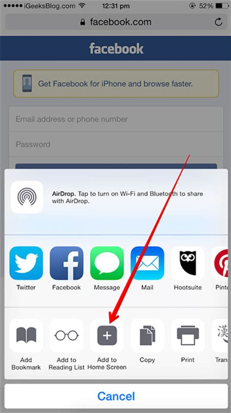 iphone add on how to add website shortcut to iphone homescreen on ios 8