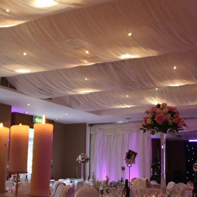 Celing Drapes - roof draping wedding ceiling decor reception
