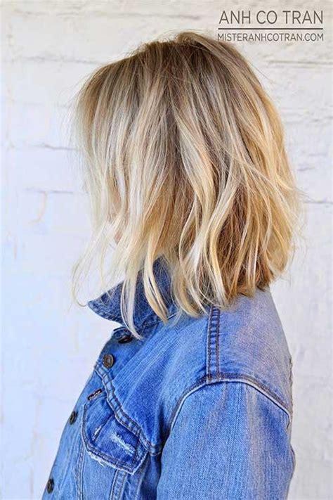 cheveux mi longs coupes  couleurs tendance automne