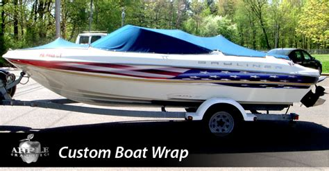 American Flag Boat Wrap by Philadelphia Bucks County Custom Vehicle Wraps Signs