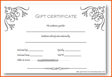 Gift Certificate Template Word Gift Certificate Template Word Clever Hippo