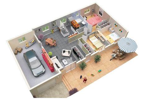 3 bedroom floor plans with garage 3 bedroom apartment house plans
