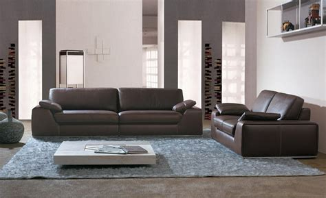 2 Leather Sofa Set by Large Size American Design Classic Genuine Leather