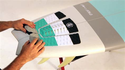 Surfboard Deck Pads by How To Install A Surfboard Deck Grip Traction Pad Youtube