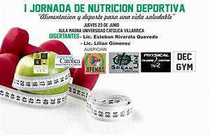 I Jornada De Nutrici U00f3n Deportiva
