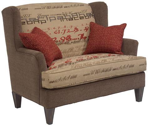 Bradstreet Settee by Flexsteel Bradstreet Upholstered Settee With Tapered Wood