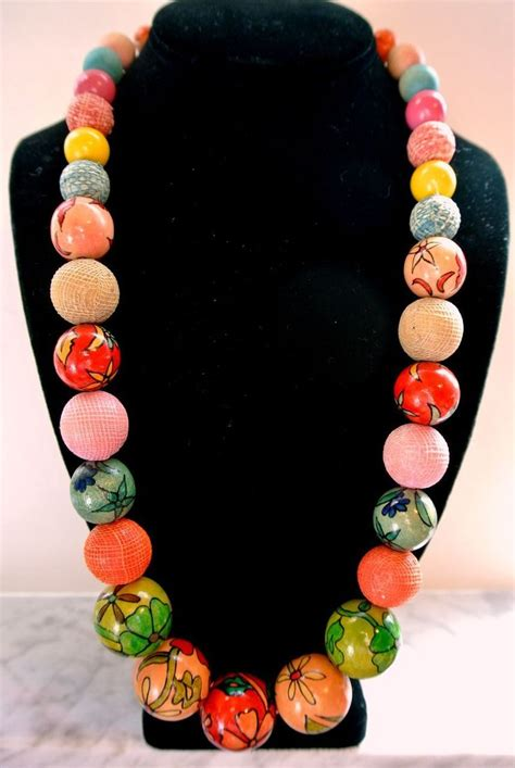 images  fabric covered bead necklaces