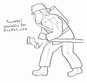 How To Draw A Fireman Step By Step Arcmelcom