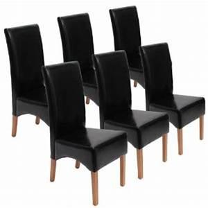 Chaise En Cuir Noir : photo chaise de salle a manger en cuir noir ~ Teatrodelosmanantiales.com Idées de Décoration