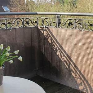 Balkonverkleidung Kunststoffgeflecht Mocca Anthrazit