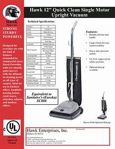 Download Free Pdf For Sanitaire Quick Kleen Sc886 Vacuum