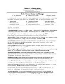 hr manager objectives for resume senior human resources manager resume