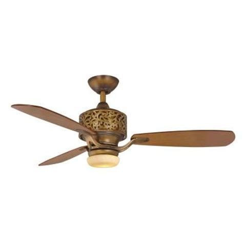 ceiling fan wobbles at low speed hton bay cailin 48 in gilded bronze ceiling fan 34208