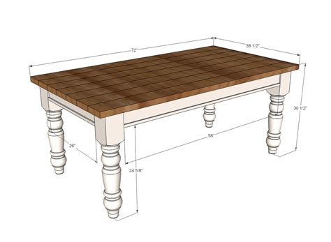 Kitchen Table Bench Plans Free by White Husky Farmhouse Table Diy Projects