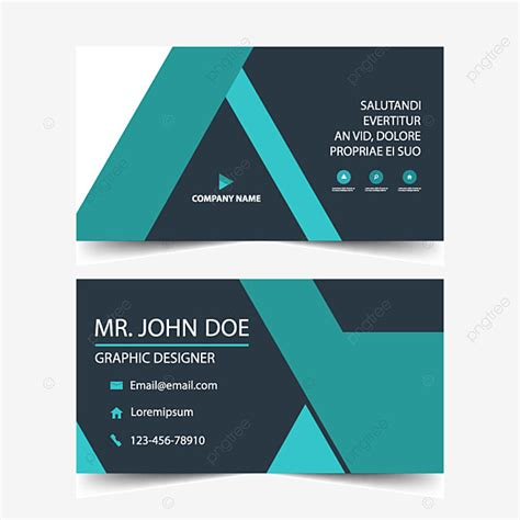 blue corporate business card template   pngtree