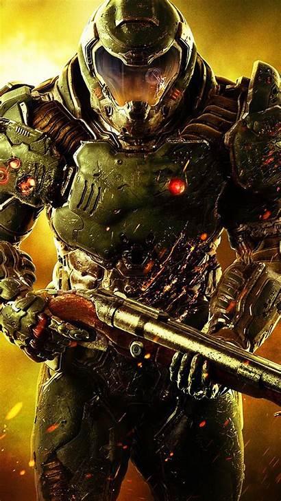 Doom Mobile 4k Phone Wallpapers Marine Soldier