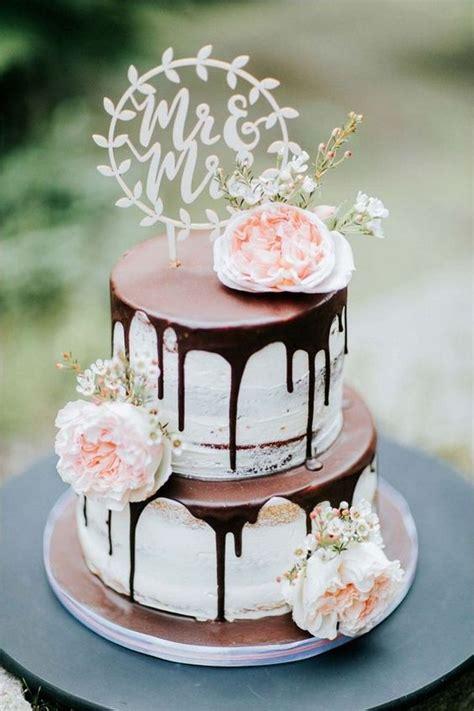 wedding cake trends  drip wedding cakes   puff