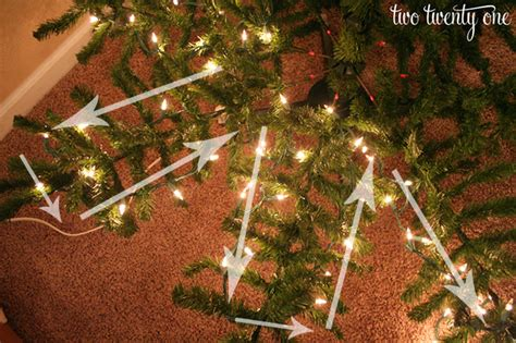 how to put lights on a christmas tree two twenty one