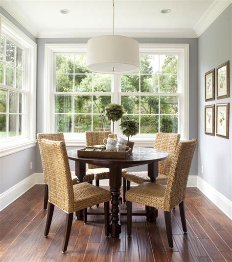 splashy seagrass chairs  dining room contemporary