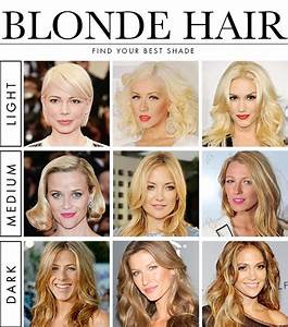 Hair And Hairstyles Hair Color Charts Of Types Of Blonde