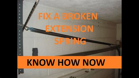 replace  garage door extension spring youtube