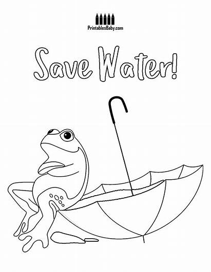 Water Coloring Pages Frog Poster Posters Printables