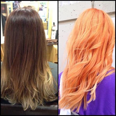 apricot hair color hair colar  cut style