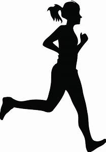 Running woman clipart vector collection