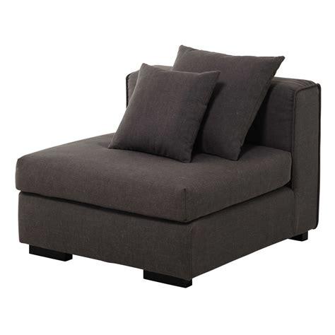 chauffeuse de canapé modulable en gris chiné arthus