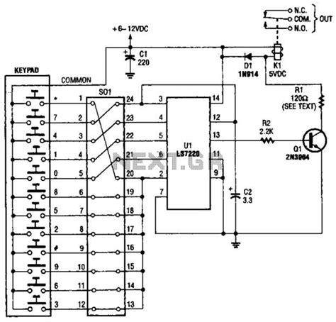 door lock circuit security circuits nextgr