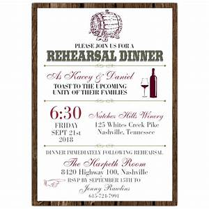 wine barrel rehearsal dinner invitations paperstyle With examples of wedding rehearsal dinner invitations