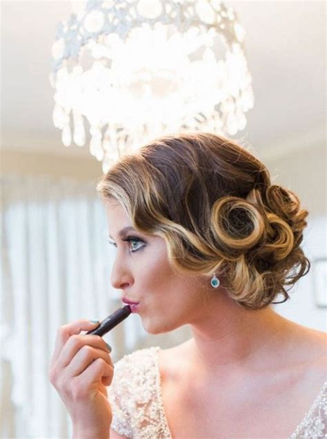 Image result for low bun hairstyle 20s Bridal hair
