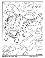Coloring Dinosaur Ankylosaurus Colouring Dinosaurs Animal Dino Printable Para Colouringpages Colorear Mini Kleurplaat Sheets Unicorn Kleurplaten Facts Older Template Farm sketch template