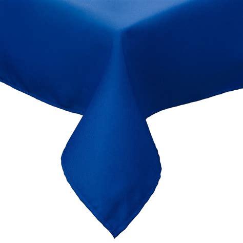 royal blue table linens 54 quot x 120 quot royal blue hemmed polyspun cloth table cover