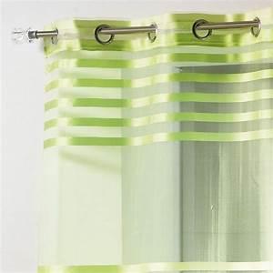 Voilage Vert D Eau : voilage 140 x h240 cm organza fresh vert voilage eminza ~ Dode.kayakingforconservation.com Idées de Décoration