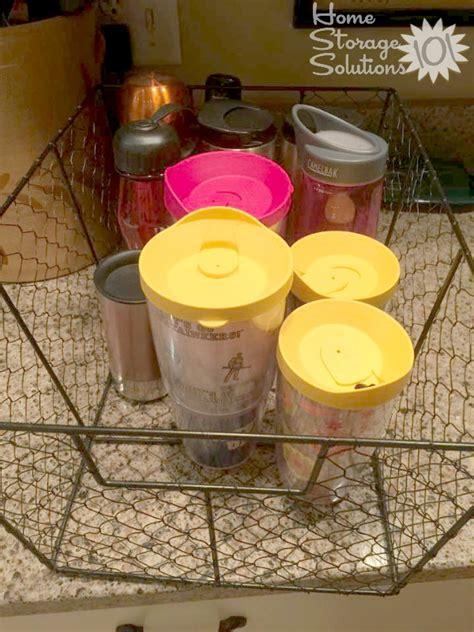 kitchen storage bottles water bottle storage organization ideas 3124