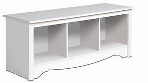 New white prepac large cubbie bench 4820 storage usd 114 for What kind of paint to use on kitchen cabinets for praying hands candle holder