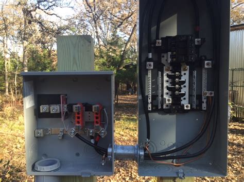 Mobile Home Meter And Breaker Box Wiring by Dreams By The Acre Dec 6 Power Pole Meter Base Set