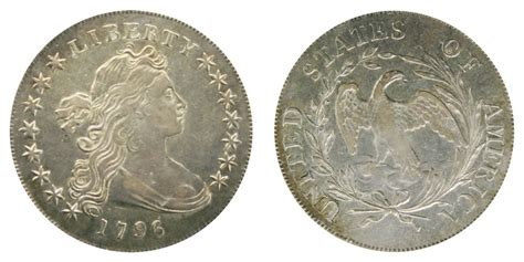 1796 Draped Bust Dollar - 1796 draped bust silver dollar small date large letters