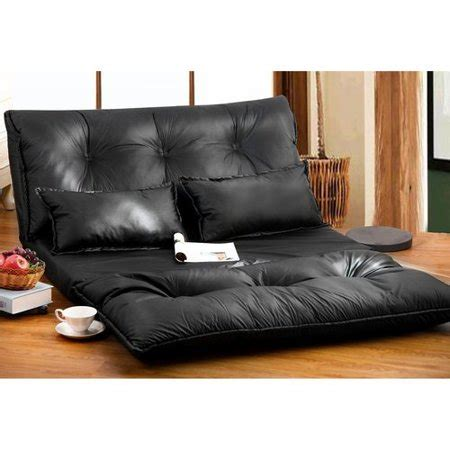 merax pu leather foldable floor sofabed   pillows