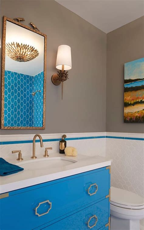 Gray And Aqua Bathroom by Gray And Turquoise Bathrooms Contemporary Bathroom