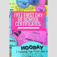 Free Editable First Day Of School Certificates  Teach Junkie