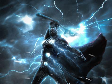 wallpaper thor lightning strike hd creative graphics